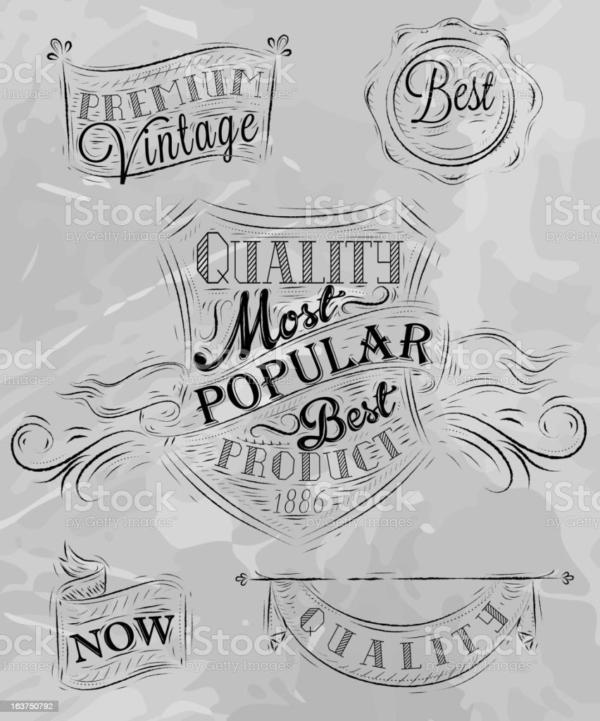 Heraldry chalk premium gray royalty-free stock vector art