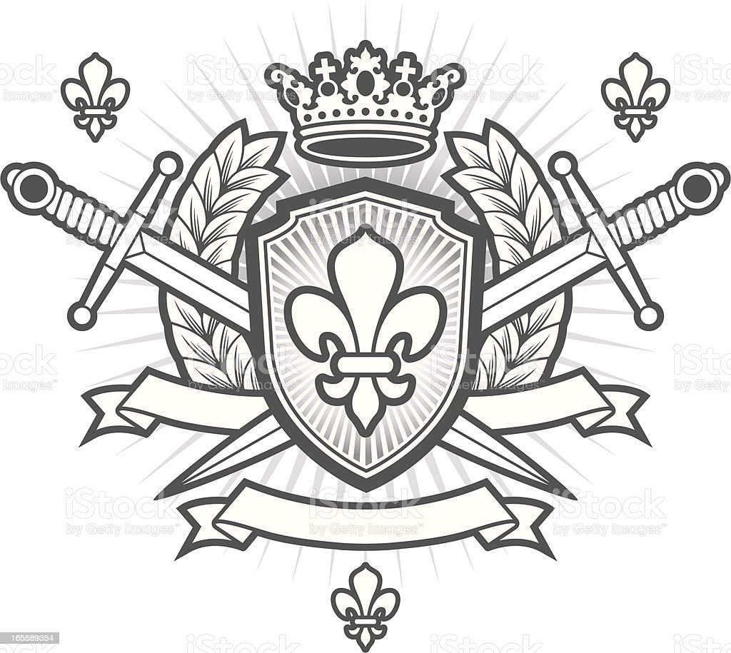 Heraldry crest royalty-free stock vector art