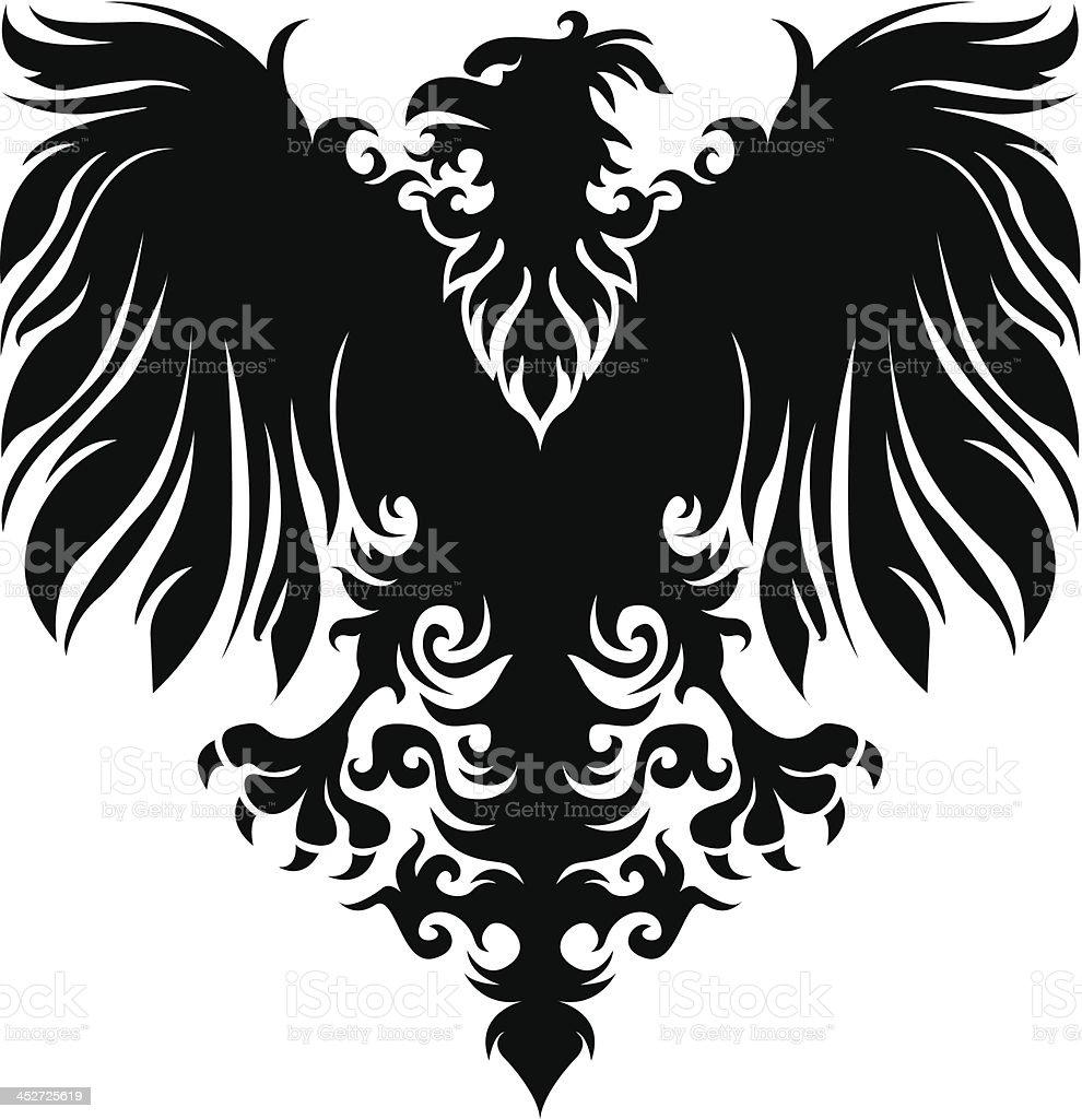 Heraldry eagle royalty-free stock vector art