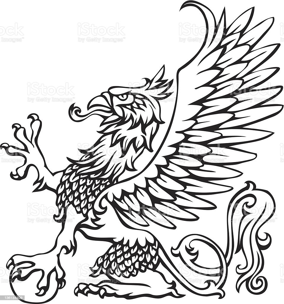 Heraldry griffin royalty-free stock vector art