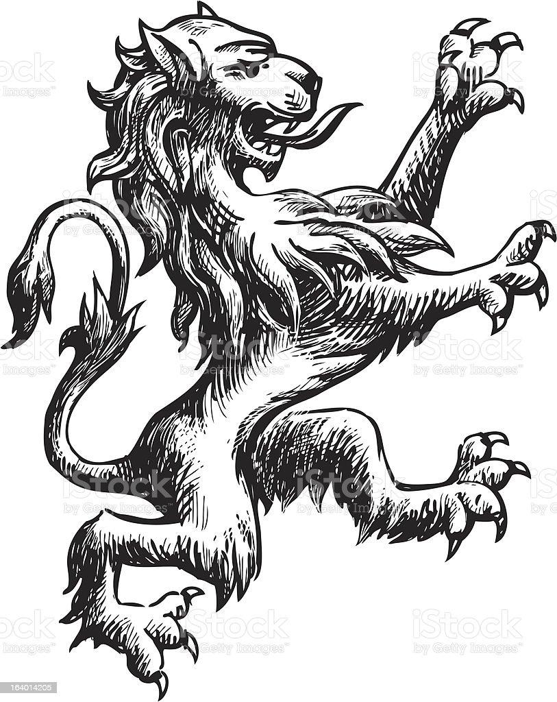 heraldry lion royalty-free stock vector art