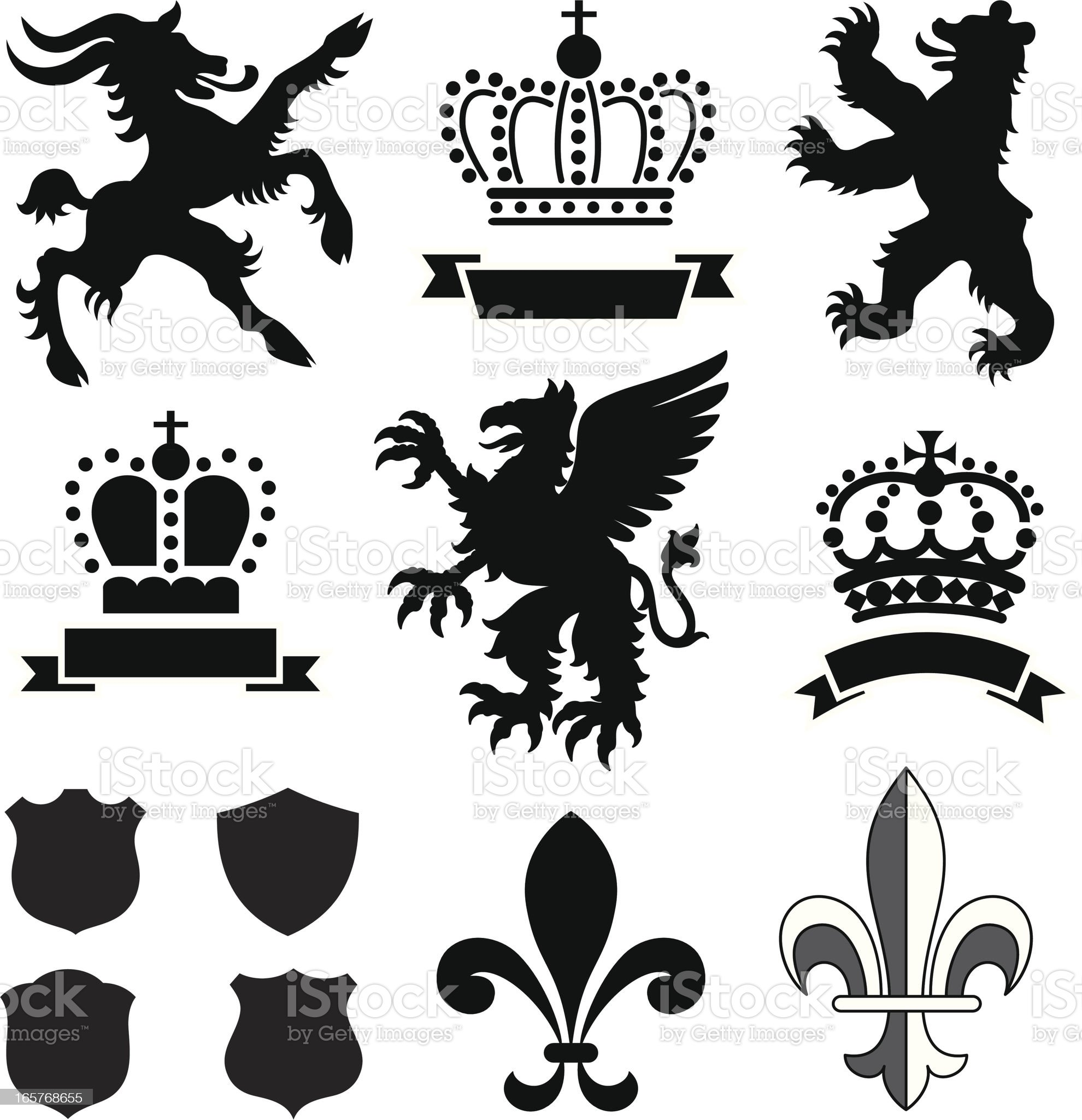 Heraldry Ornaments royalty-free stock vector art