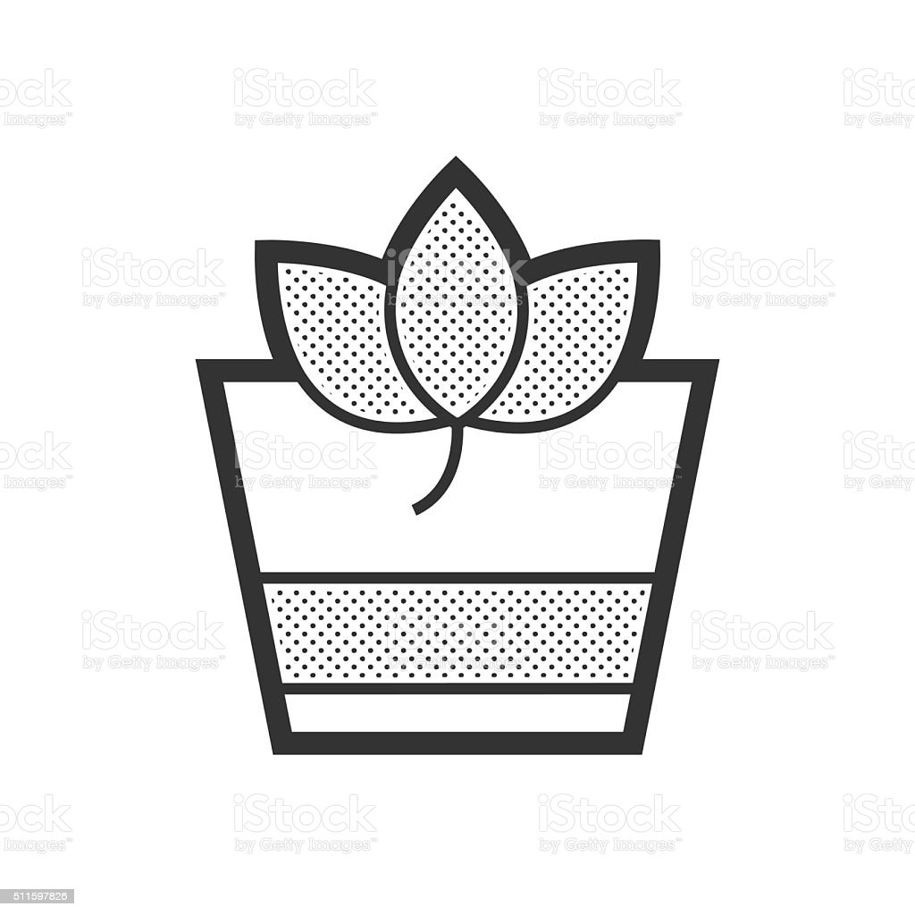 Herbal Drink icon vector art illustration