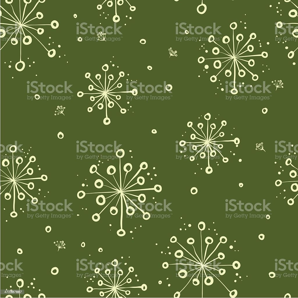herbal floral pattern vector art illustration