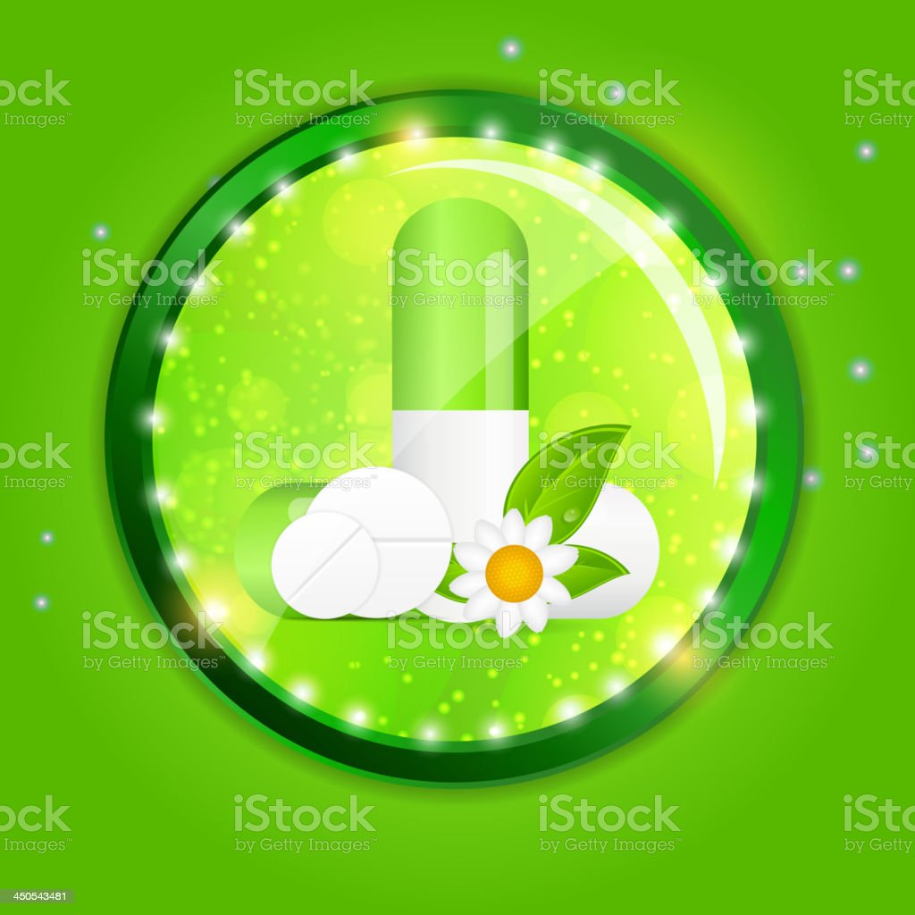 Herbal pill  Environment background vector illustration royalty-free stock vector art