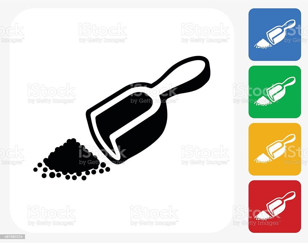 Herbal Powder Icon Flat Graphic Design vector art illustration