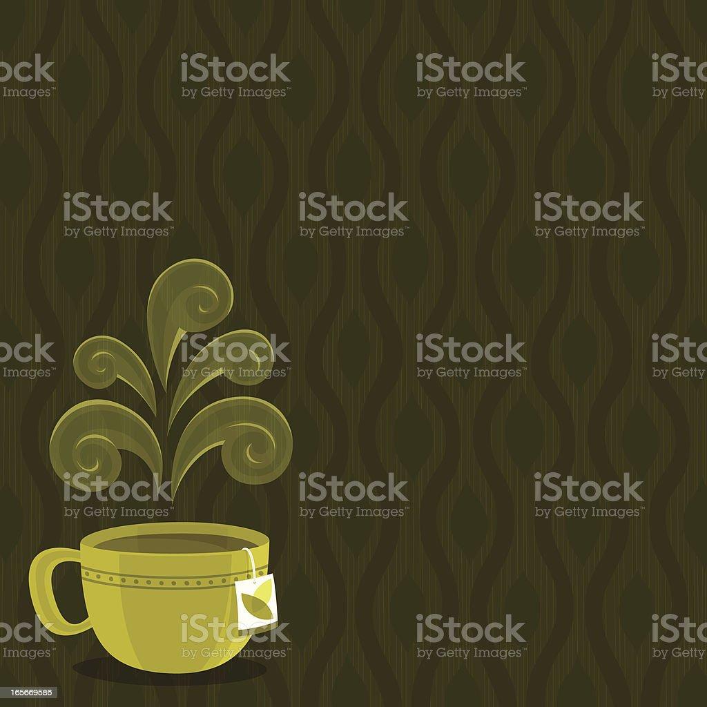 Herbal Tea background vector art illustration