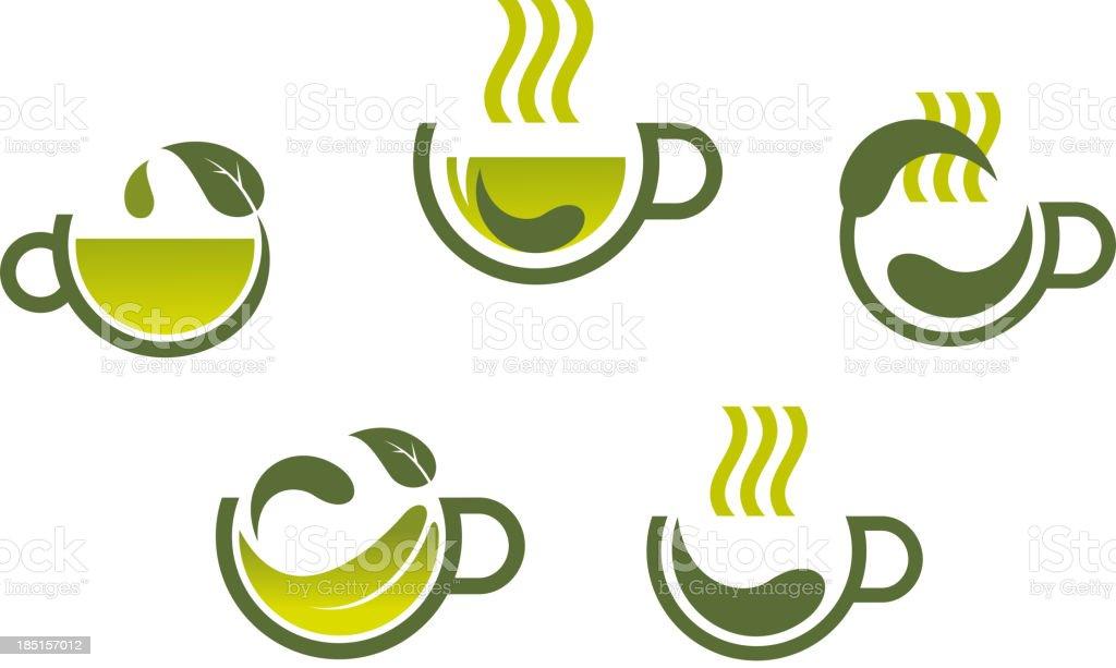 Herbal tea symbols royalty-free stock vector art