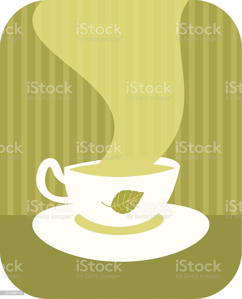 Herbal tea vector art illustration