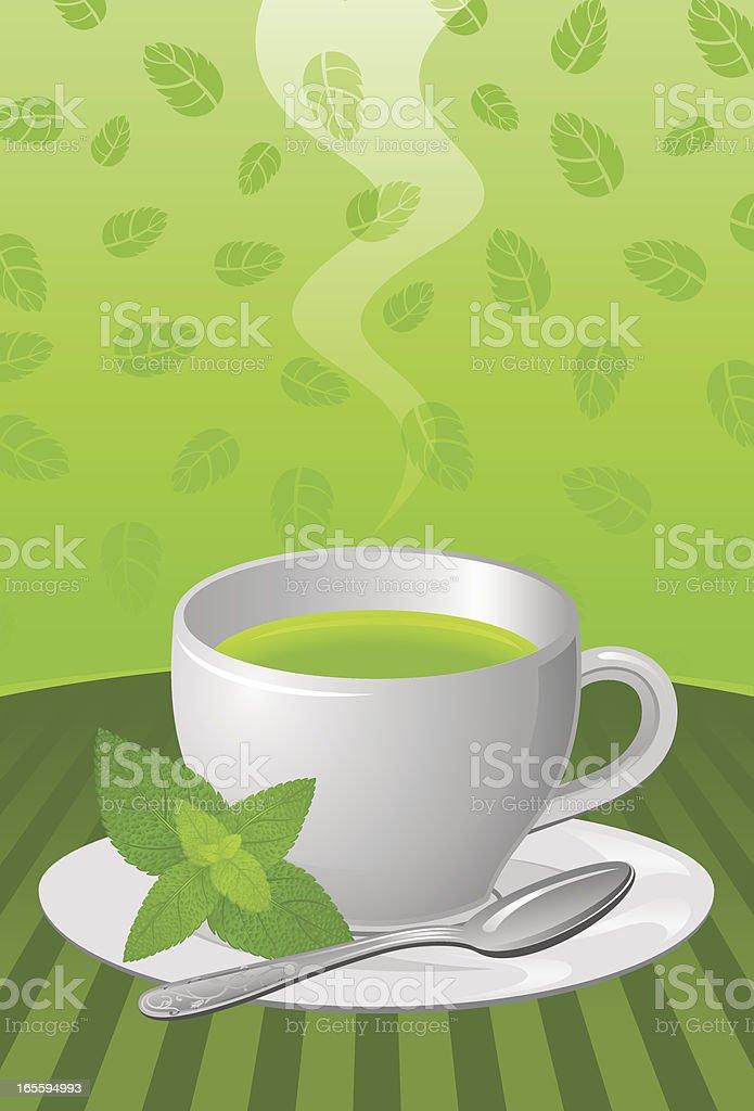 Herbal tea royalty-free stock vector art