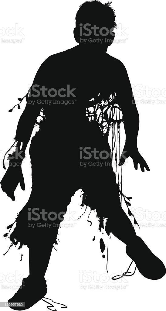 Herbert the Zombie! vector art illustration