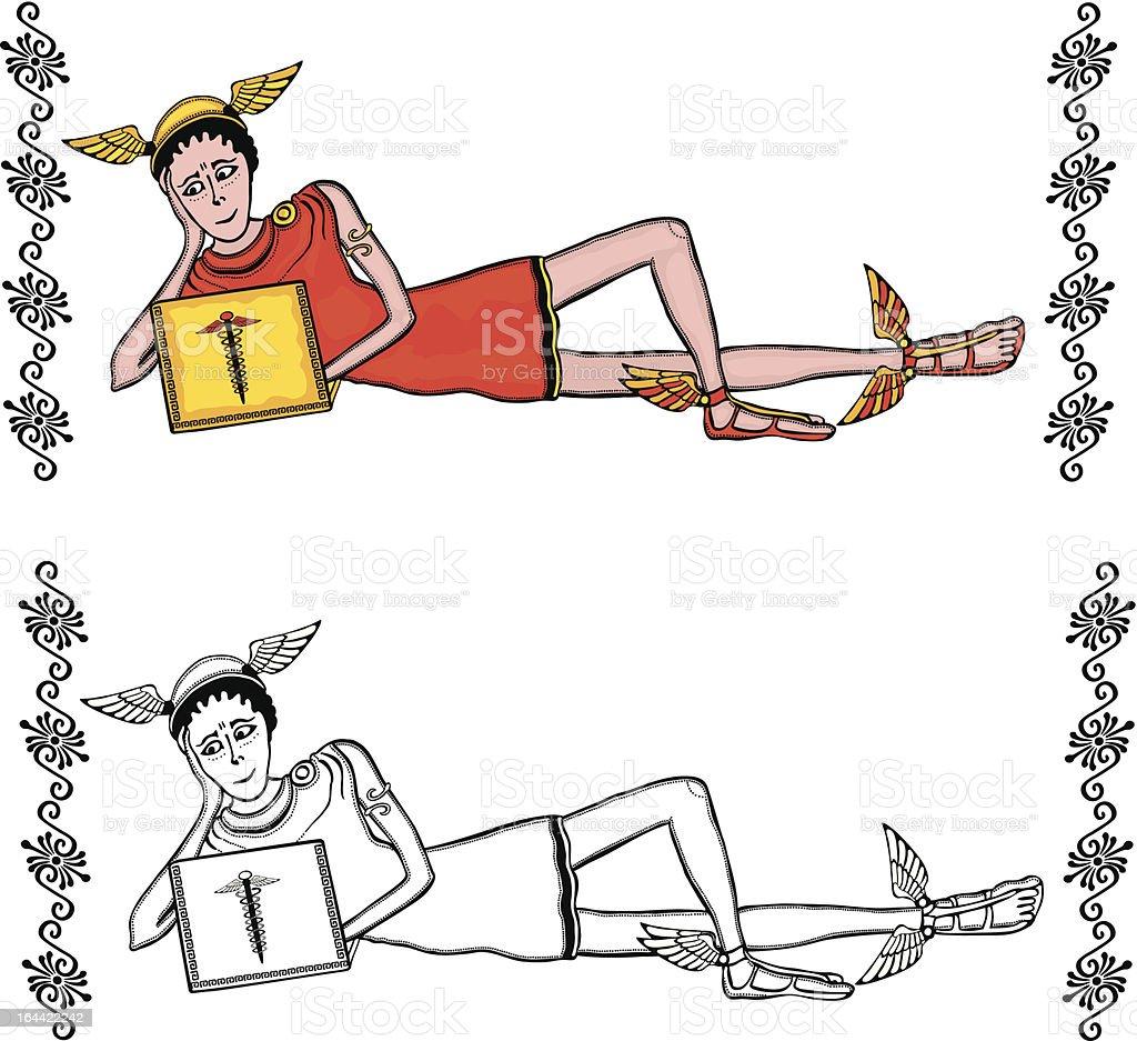 Hermes royalty-free stock vector art
