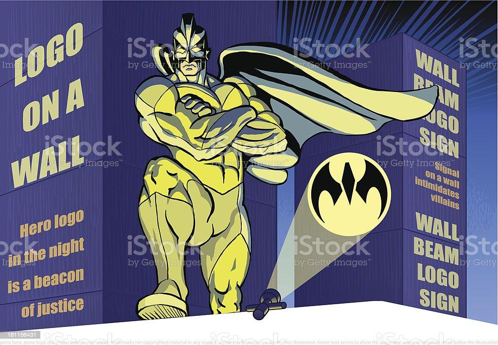 Hero Night Watch - Ptero Superhero royalty-free stock vector art