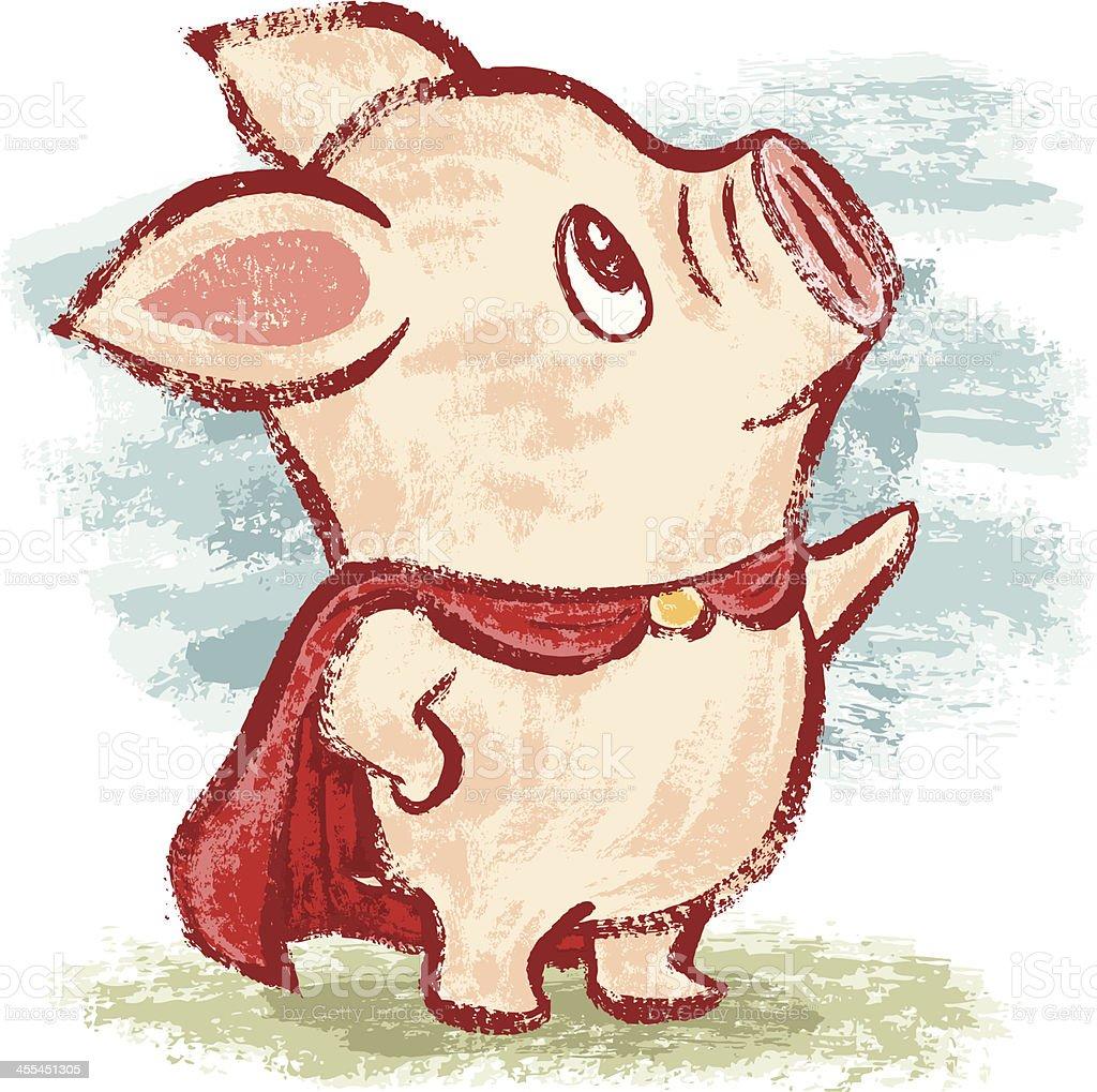 Hero piggy royalty-free stock vector art