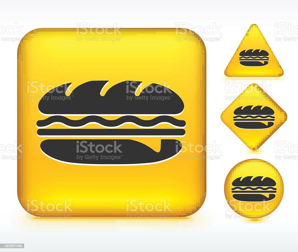 Hero Sandwich on Yellow Buttons vector art illustration