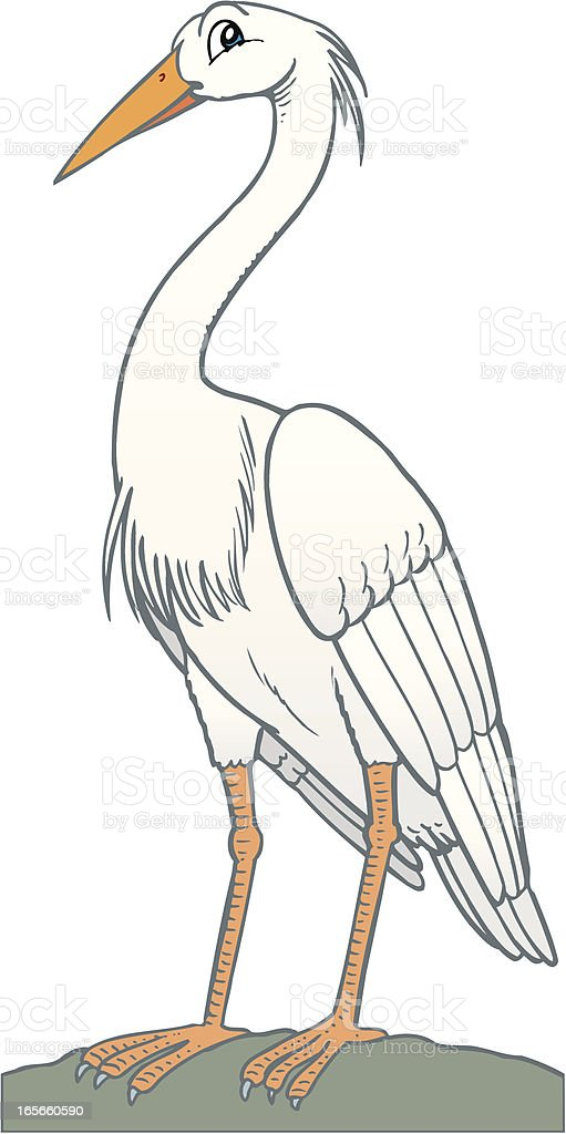 Heron royalty-free stock vector art