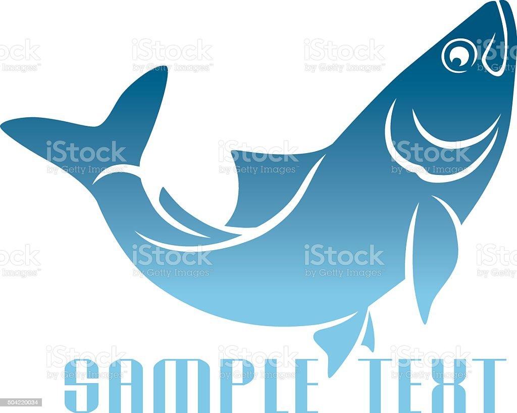 herring logo vector art illustration