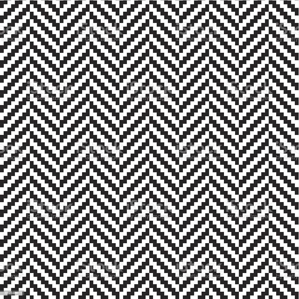 Herringbone seamless pattern vector art illustration