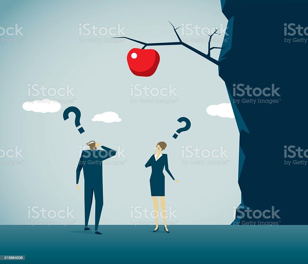 Heterosexual Couple vector art illustration