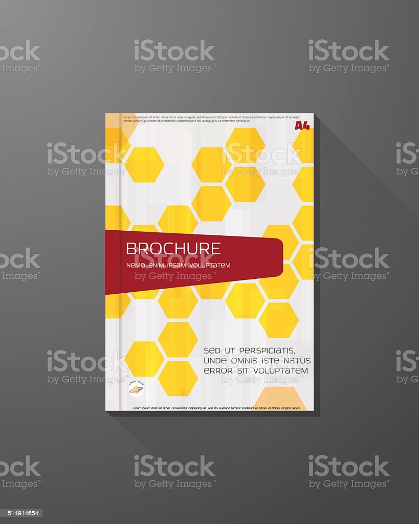 Hex book cover vector art illustration