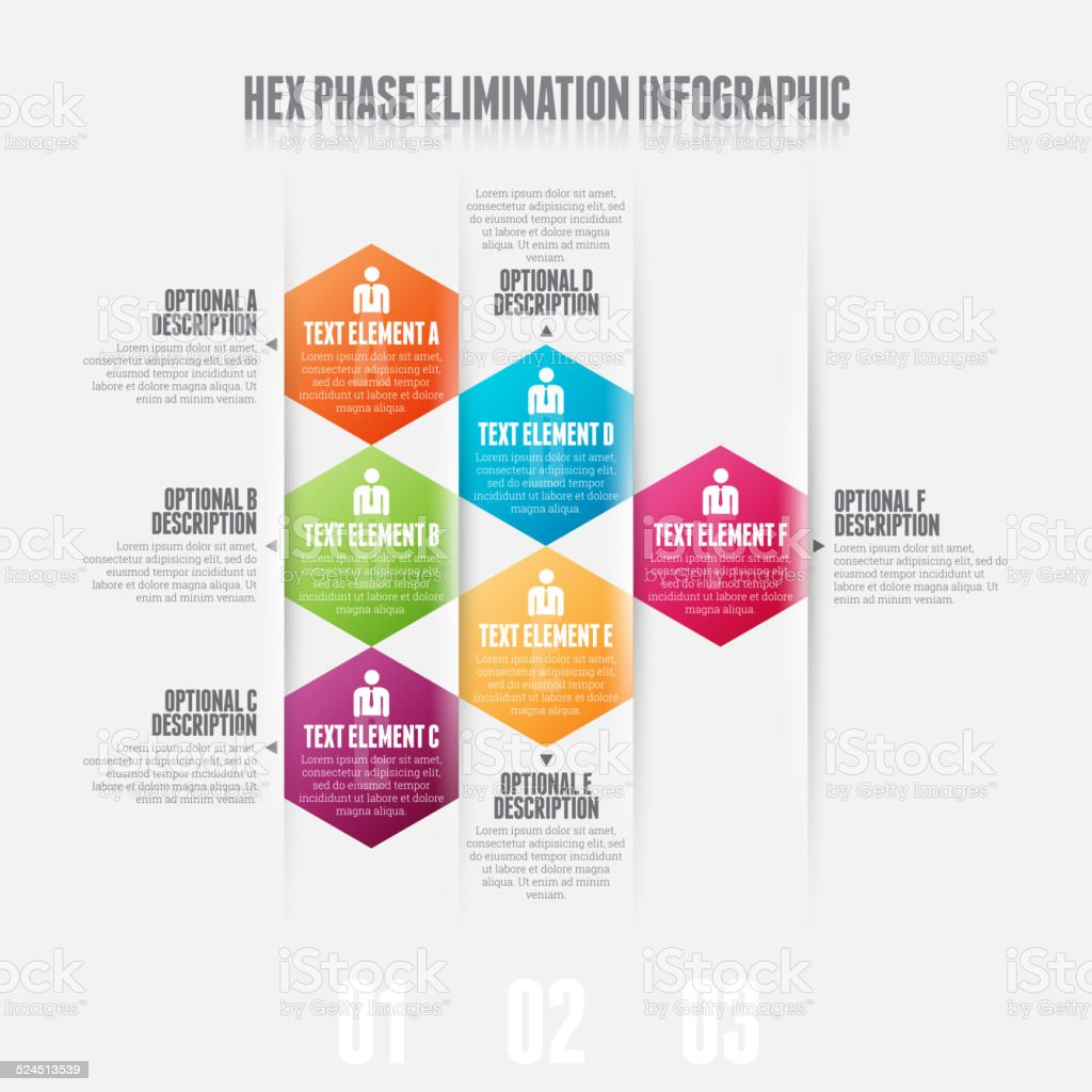 Hex Phase Elimination vector art illustration