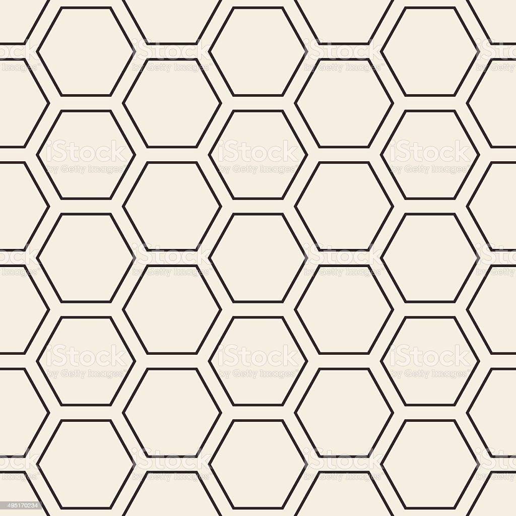 Hex stripped grid seamless pattern vector art illustration