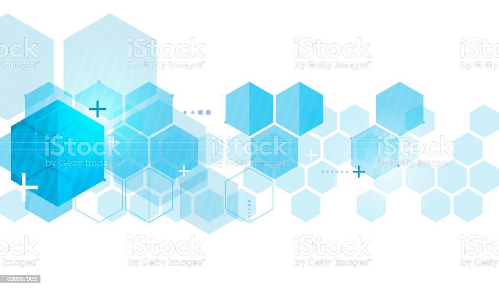 hexa tech vector art illustration