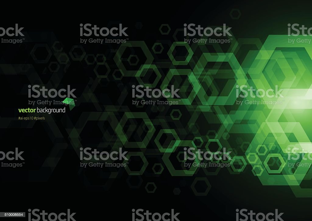 Hexagon Abstract background vector art illustration