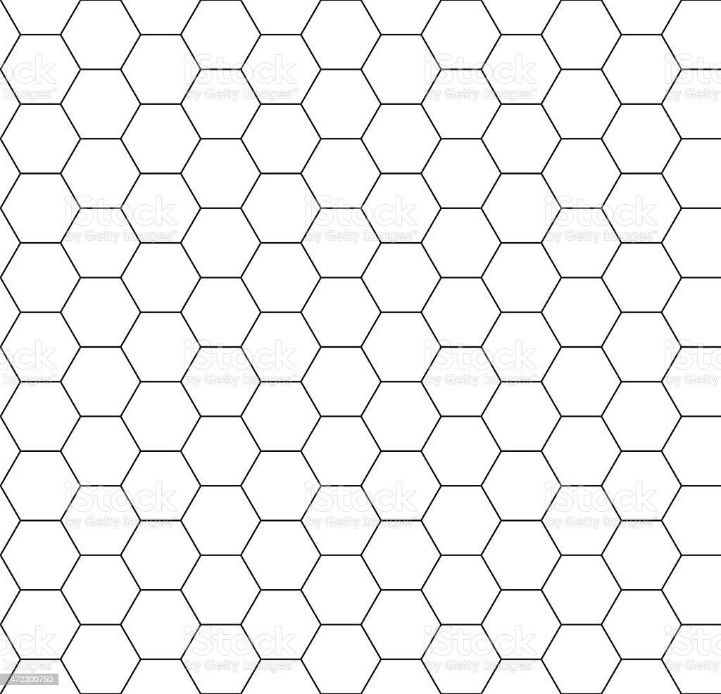 Hexagon background seamless comb vector art illustration