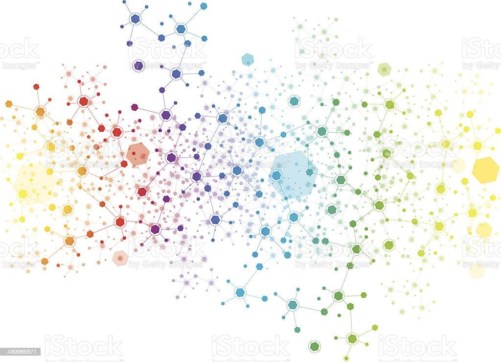 hexagon background vector art illustration