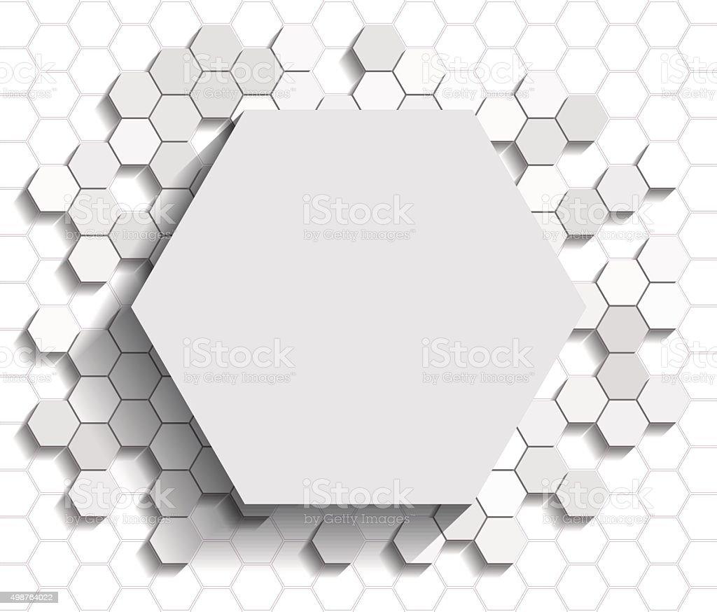 Hexagon flat background vector art illustration