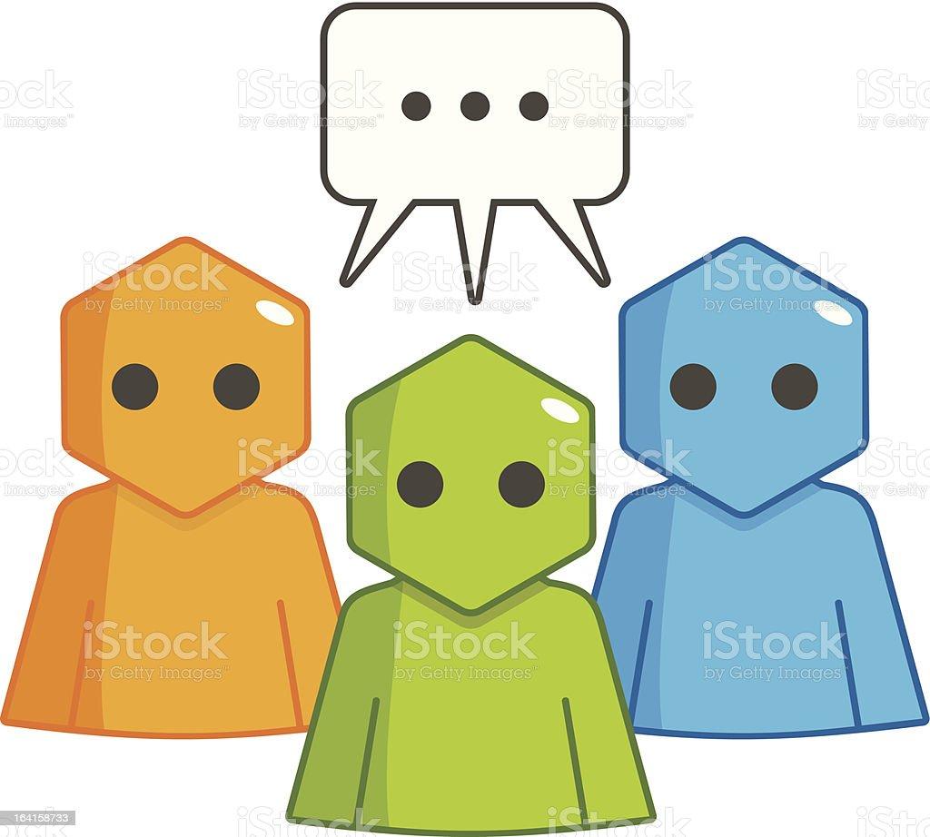 Hexagon Man - Communication royalty-free stock vector art