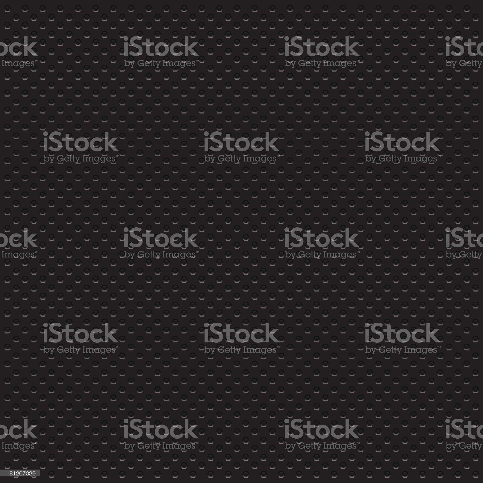 Hexagon perforated metal texture - VECTOR royalty-free stock vector art