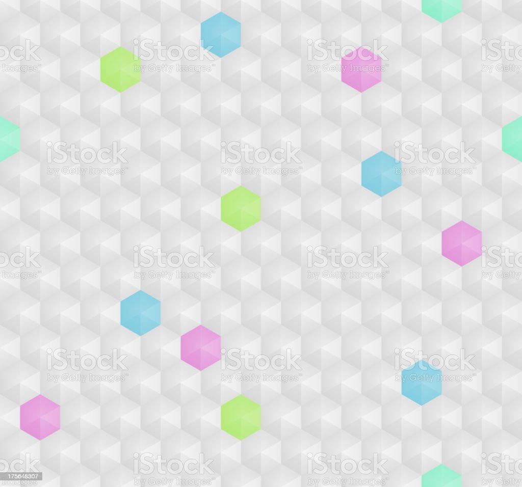 Hexagon seamless pattern royalty-free stock vector art