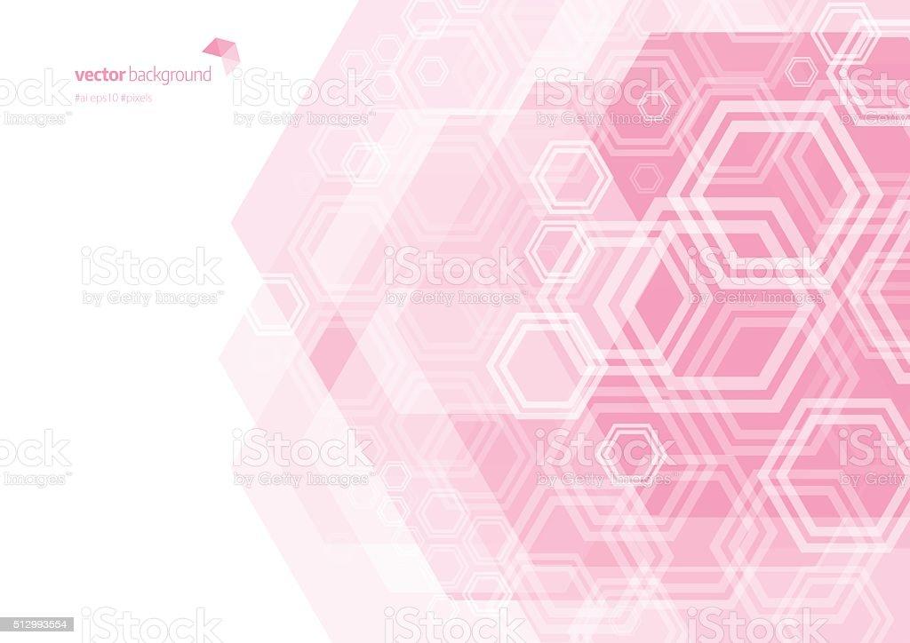 Hexagon Shape Abstract Background vector art illustration