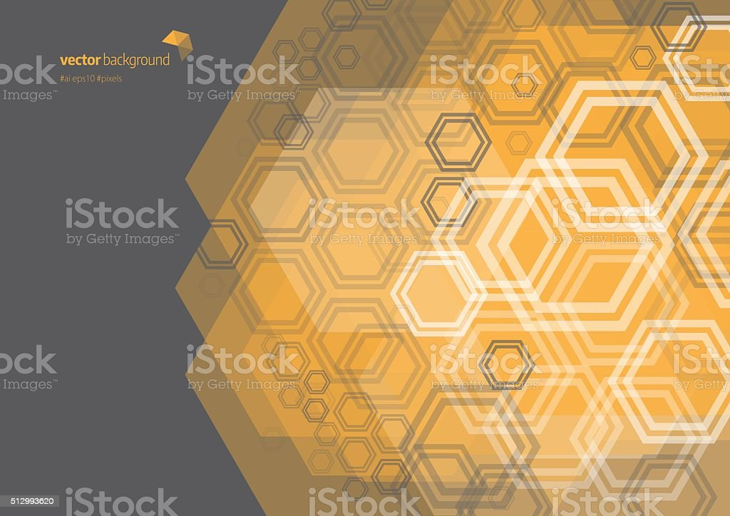 Hexagon Shape Abstract Background vector art illustration