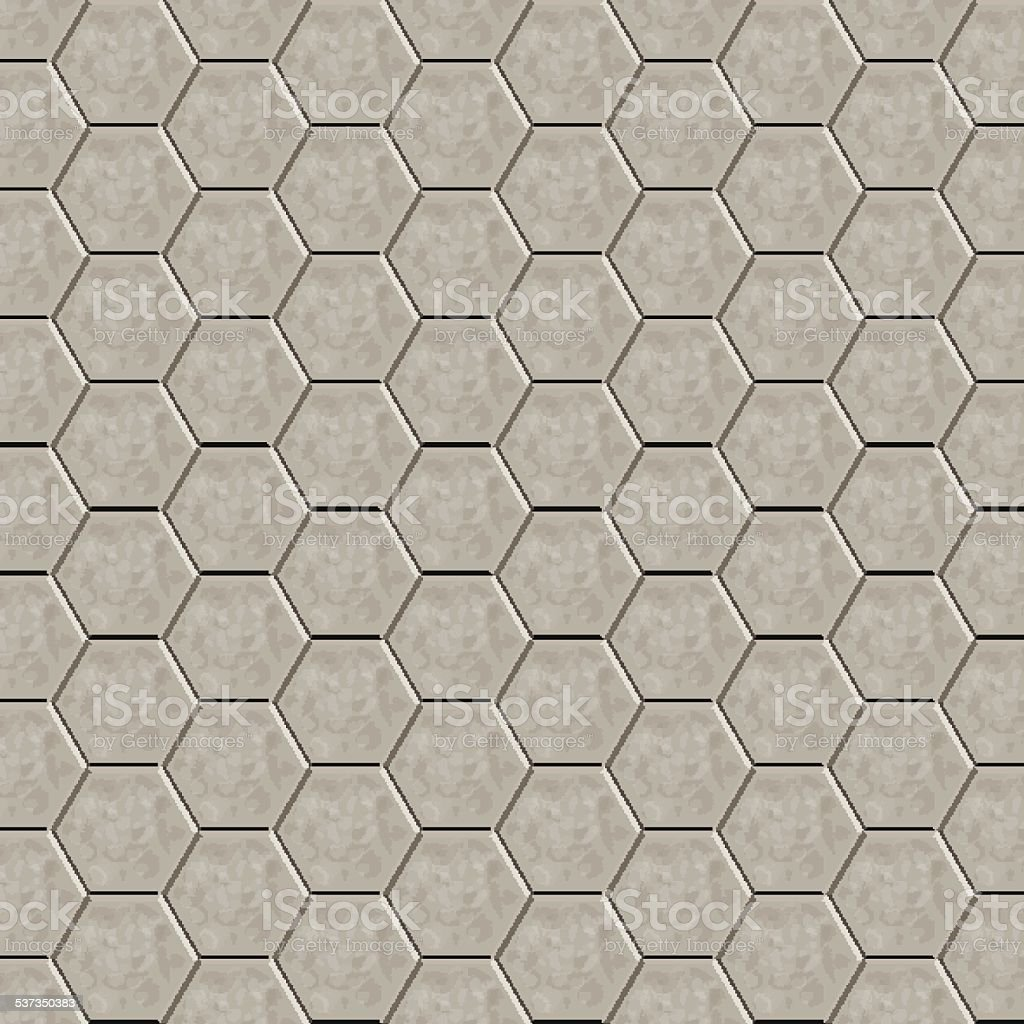 Hexagon tiles floor vector art illustration