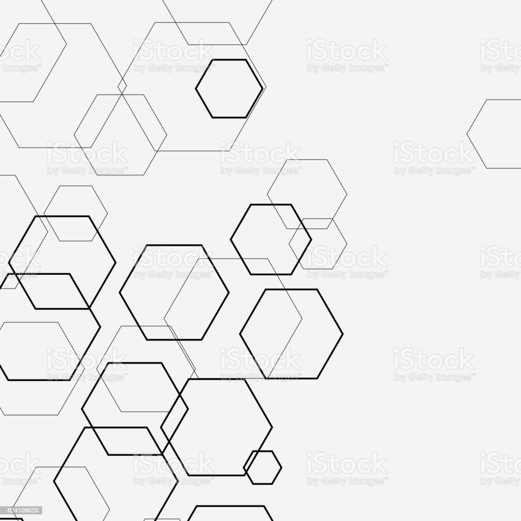 hexagon vector art illustration