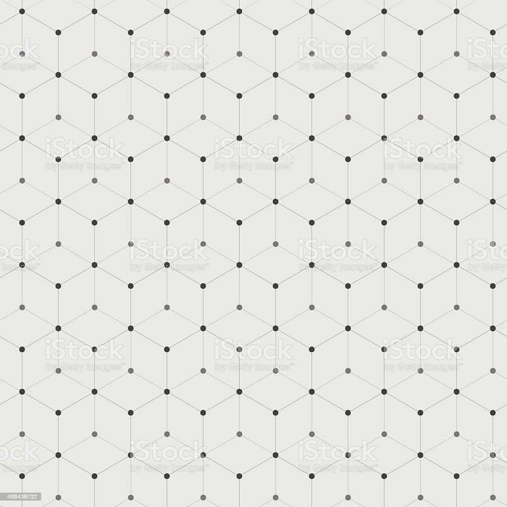 Hexagonal connections vector art illustration