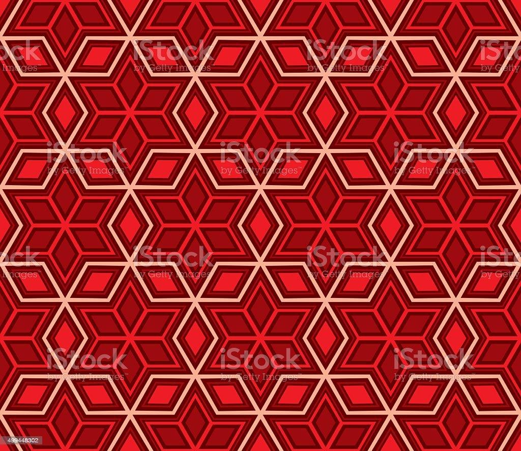 Hexagonal Geometric Pattern vector art illustration
