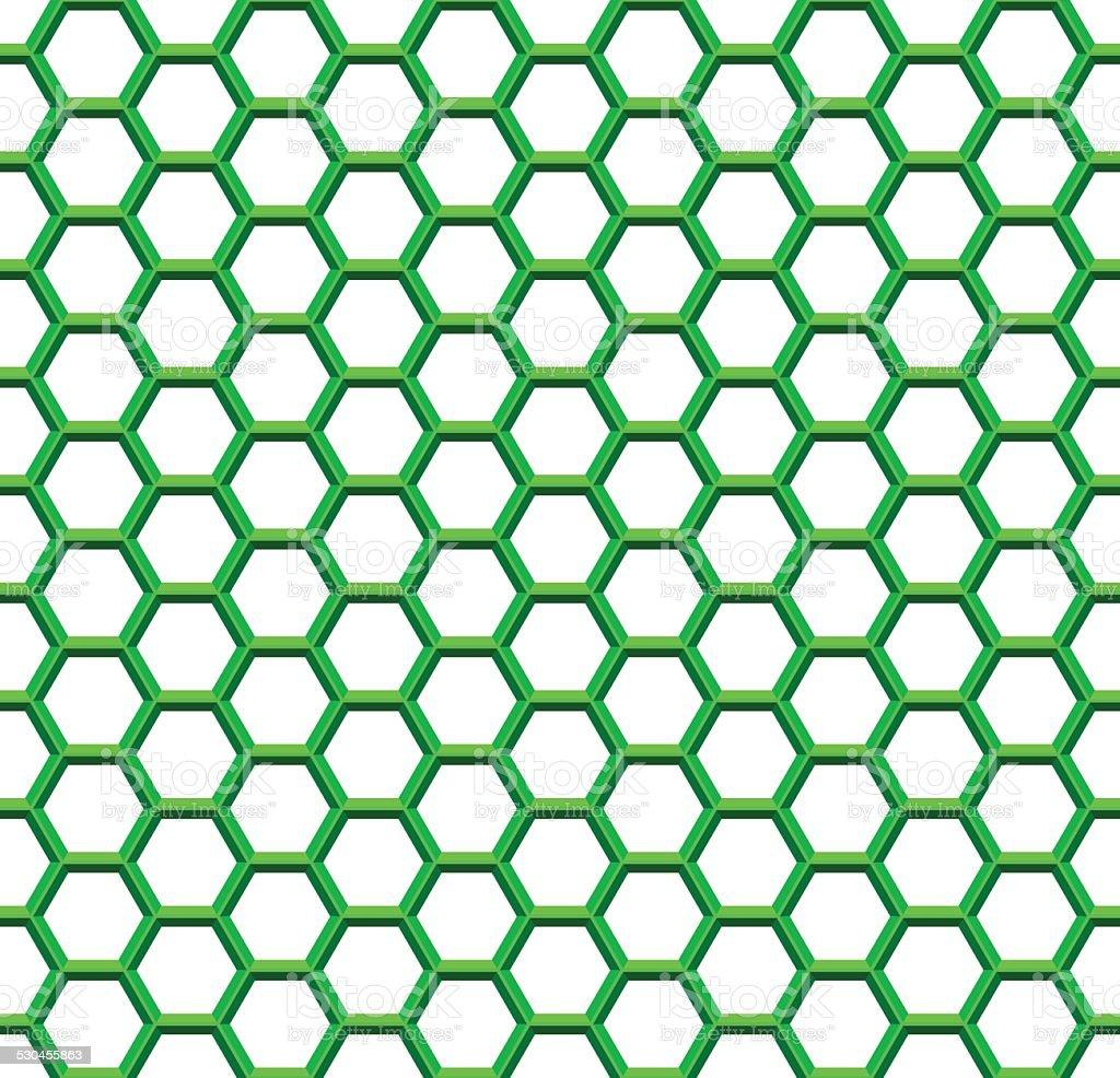 Hexagonal net vector art illustration
