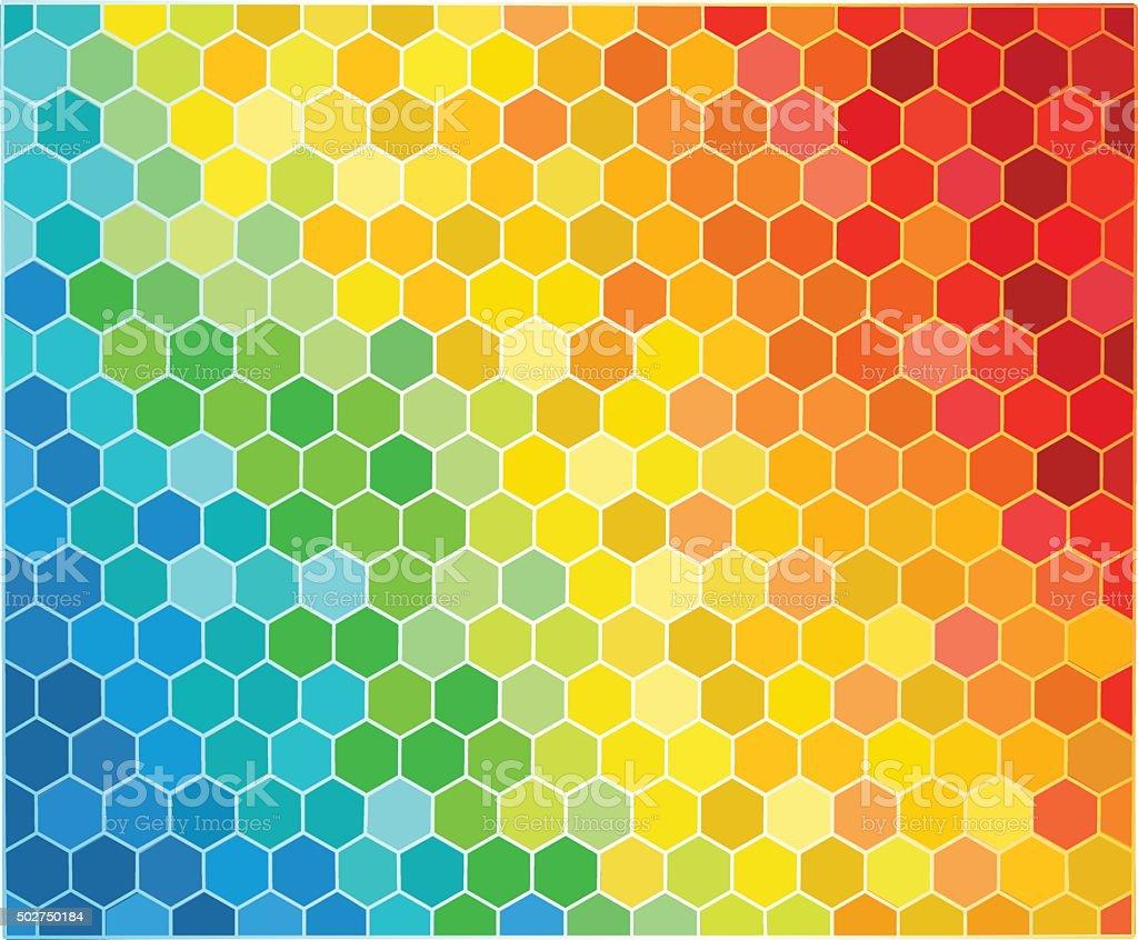 Hexagonal Shaped  Background vector art illustration