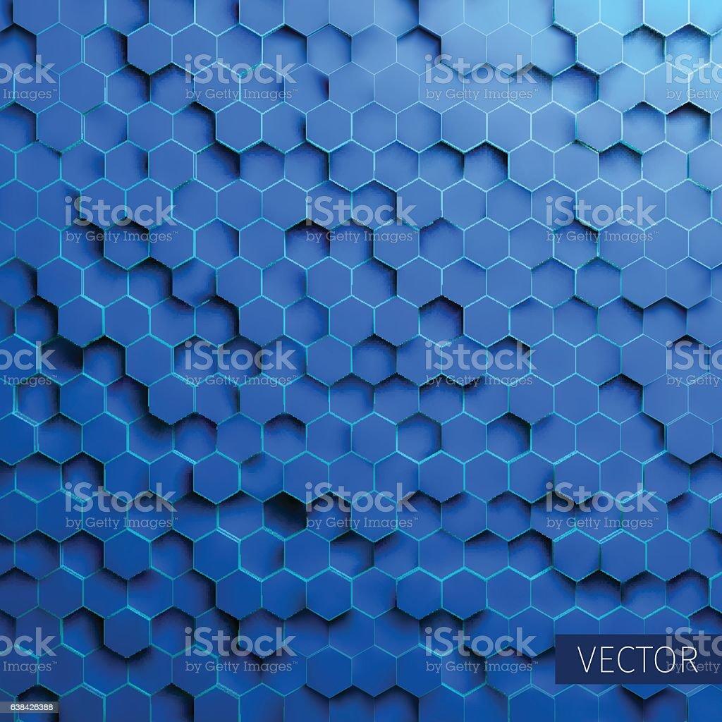 Hexagonal vector background. Technology impression. Minimal pattern. grid distortion vector art illustration