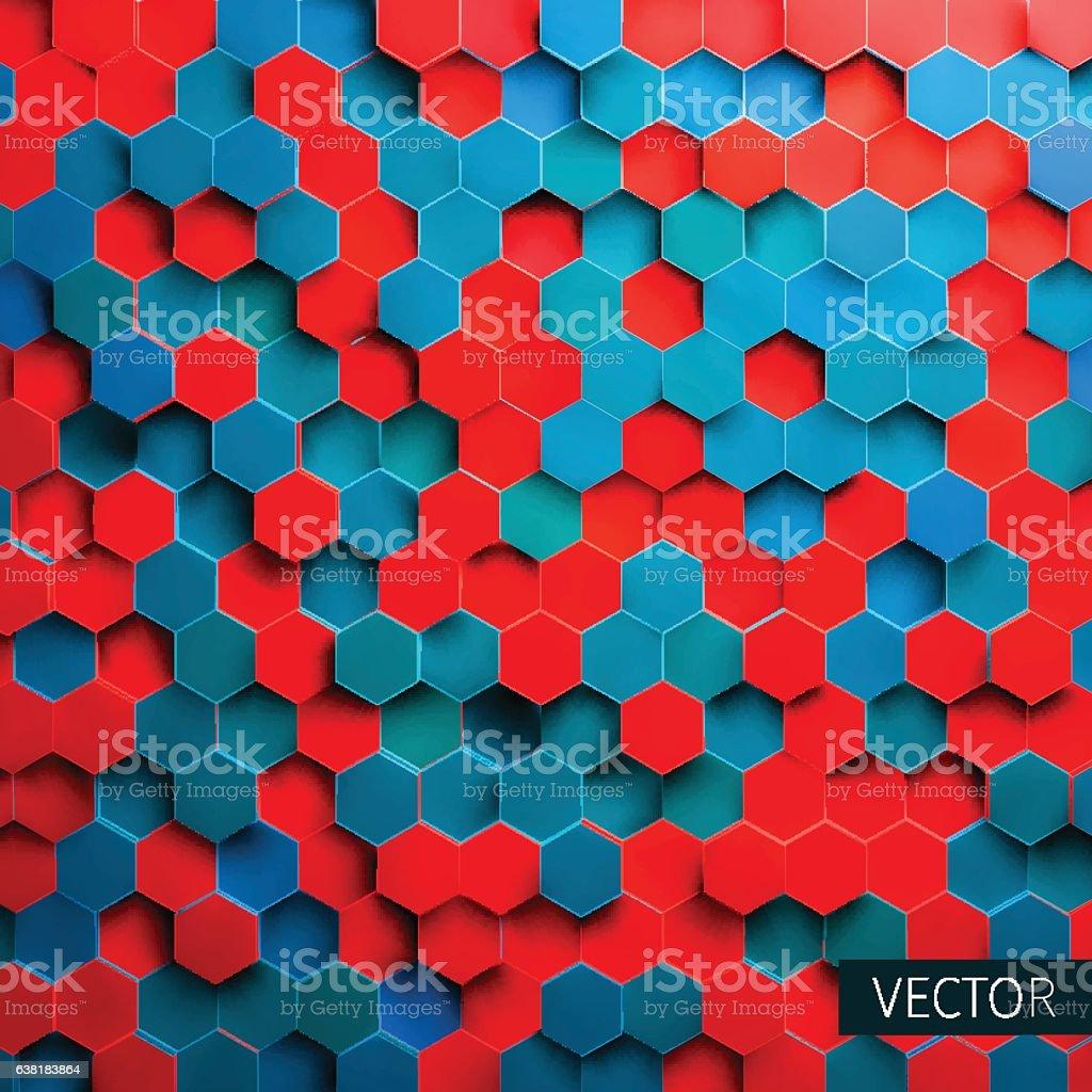 Hexagonal vector background. Toxic backdrop. Technology impression. Minimal pattern vector art illustration