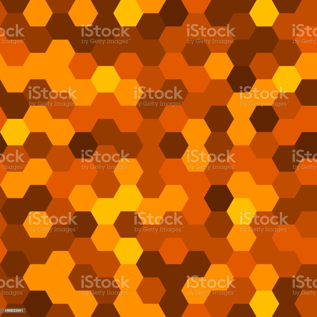 Hexagons Abstract Background. Geometric Seamless Pattern. Vector royalty-free stock vector art