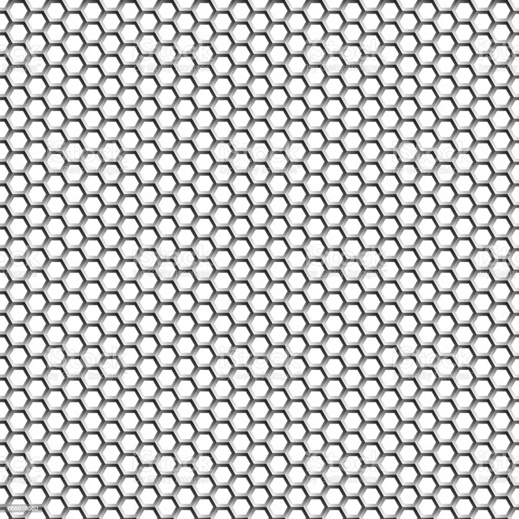 Hexagons. Background of light metal honeycombs. Transition of shades. Creation 3d effect and volume. Wallpapers for web sites. Background for your projects. Metal from the vector vector art illustration