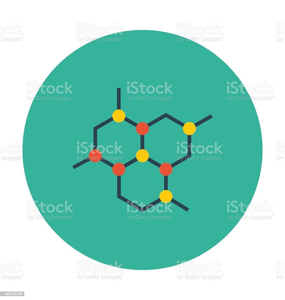 Hexagons Colored Vector Icon vector art illustration