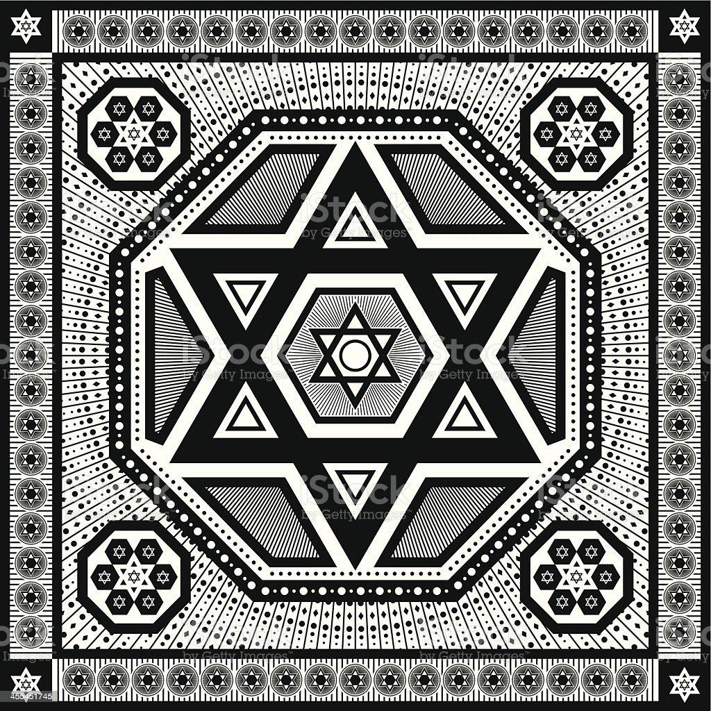 hexagram royalty-free stock vector art