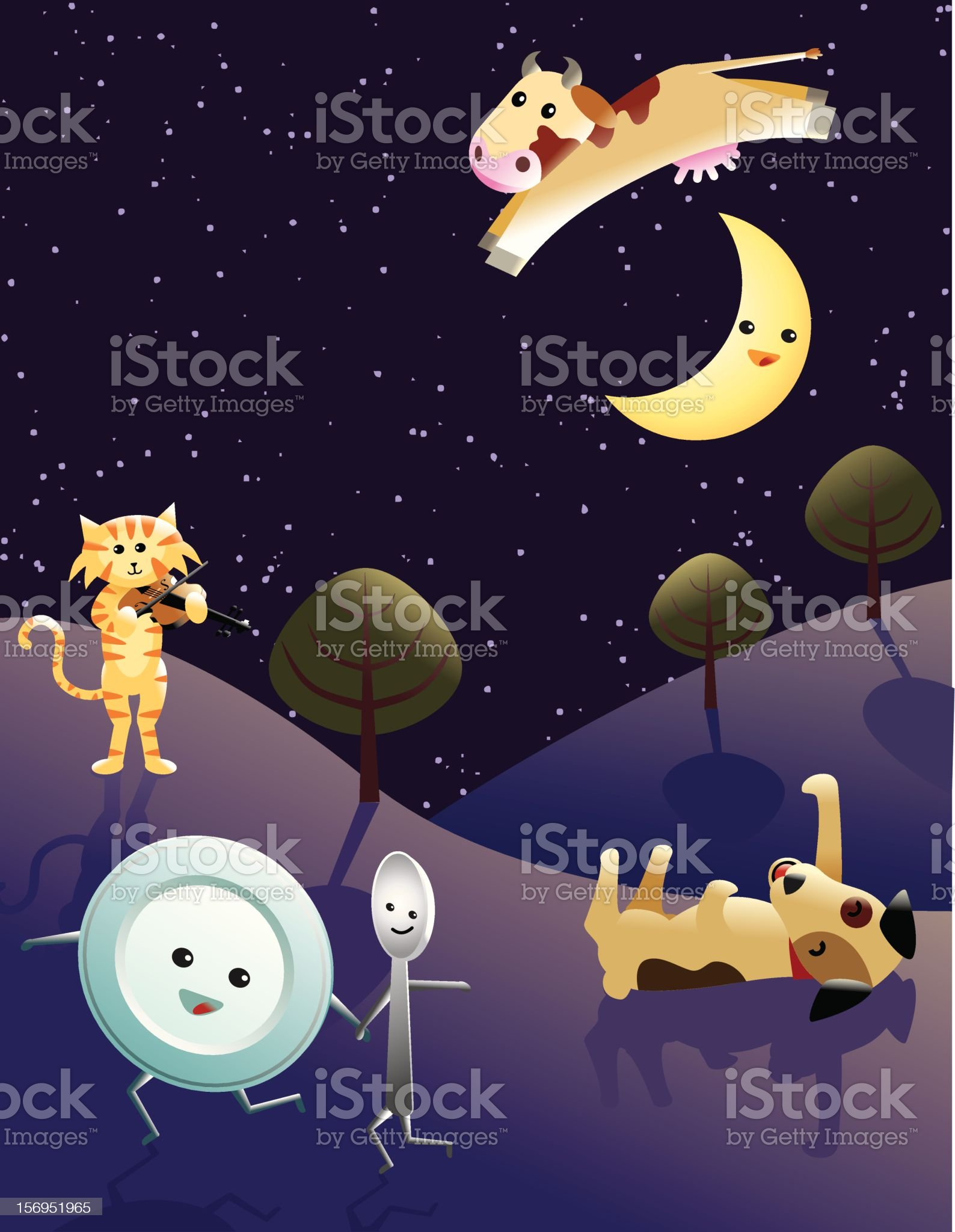 Hey Diddle d iddle royalty-free stock vector art