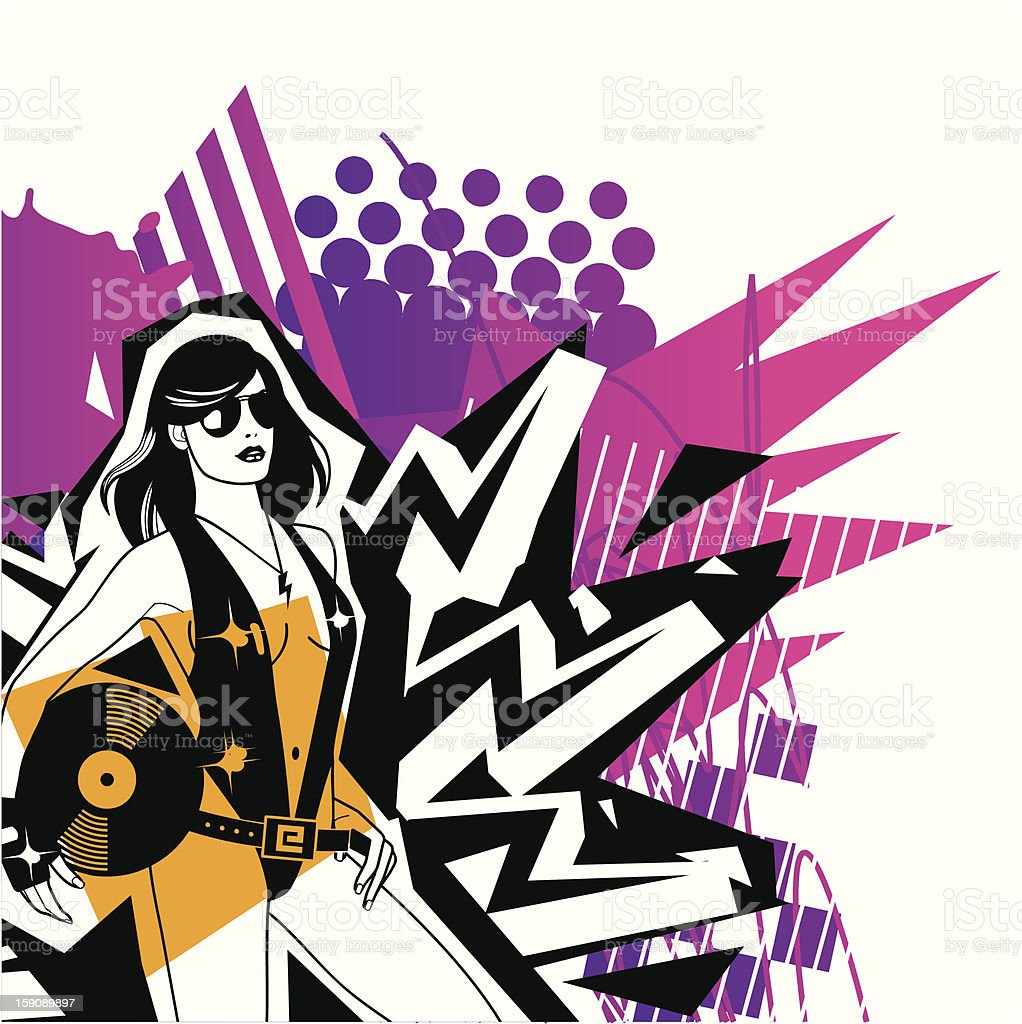 Hey DJ ! royalty-free stock vector art